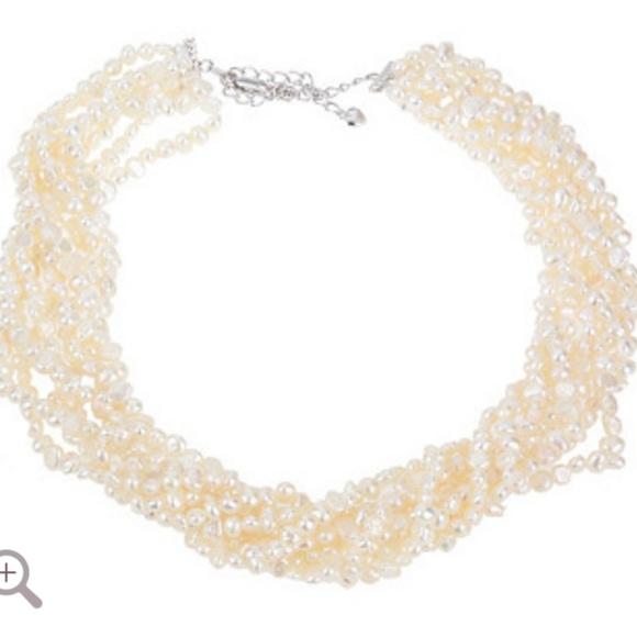 e762d6899188c 4mm Pearl Adjustable Torsade Necklace NWT